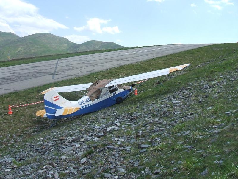 Crash d'un avion sur l'altiport de Peyragudes n°1