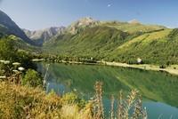 Lac de Génos en été