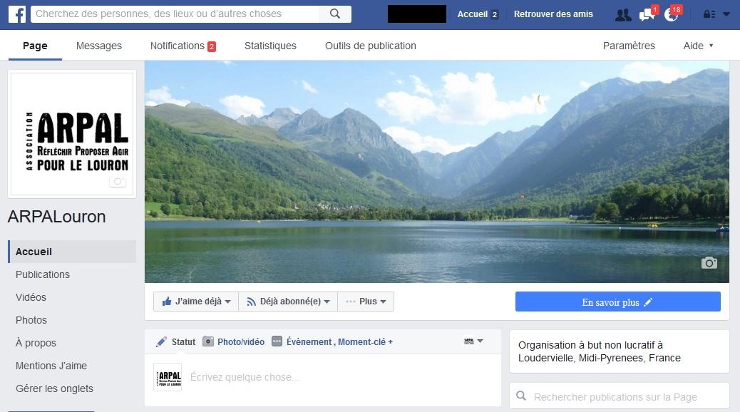 page Facebook d'ARPALouron